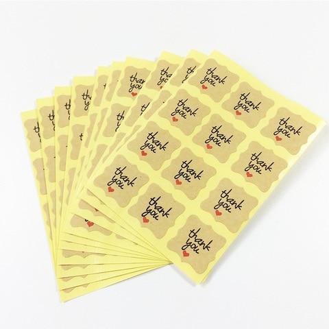 1200 pcs lote kawaii kraft papel obrigado
