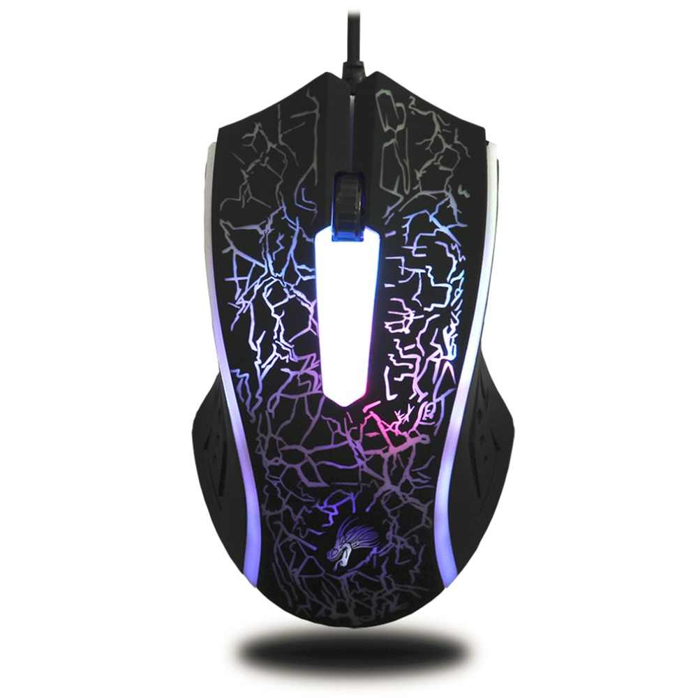 X7 4000DPI Wired Gaming Mouse 3 Button LED Optical Computer Mouse Gaming Mice