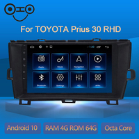 Prius 30 RHD Android 10.0 Octa Core 4+64G Androi Radio Car Navigation For Toyota Prius 30 RHD