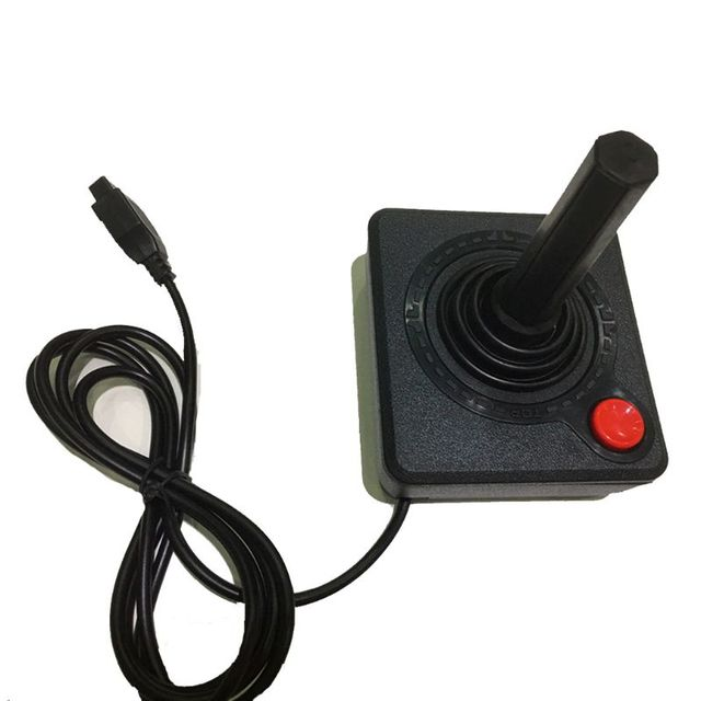 Ruitroliker רטרו קלאסי ג ויסטיק בקר Gamepad לאטארי 2600 קונסולת מערכת שחור
