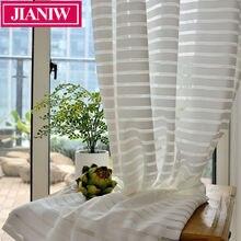 Полукружевные белые полосатые прозрачные Занавески jianiw s