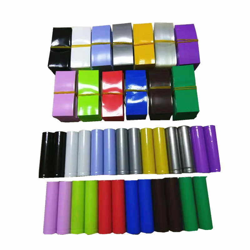 20pcs/lot Lithium Battery Packaging Shrink Film 18650 Special Heat Shrinkable Casing Skin Pvc