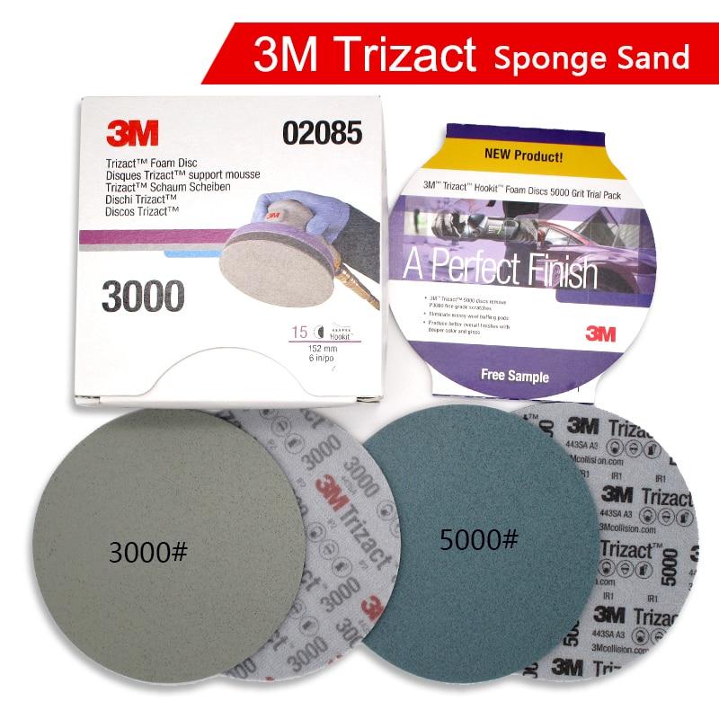 3M Trizact Pyramid Disc Sponge Sandpaper P3000 P5000 Precision Grinding 6