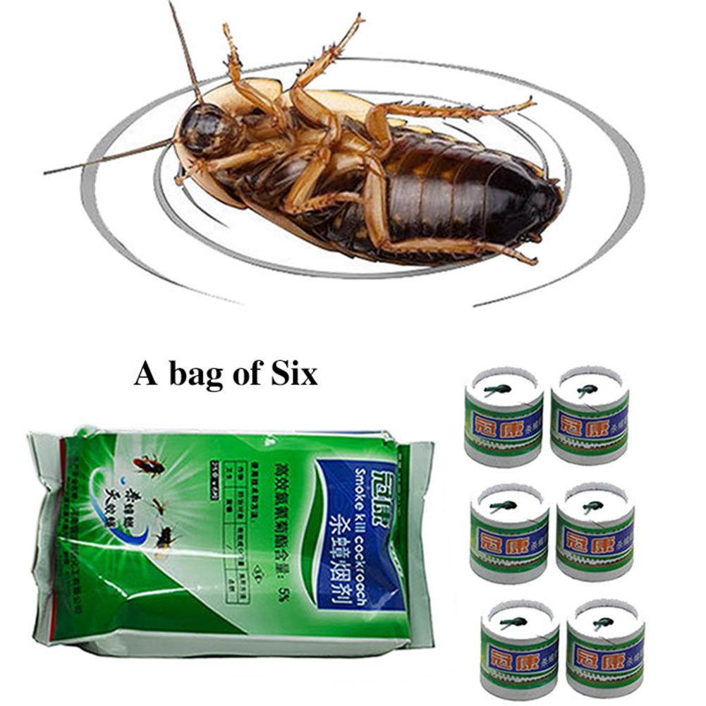 6PCS Cockroach Killer Fumigant 25G Mosquito Fly Bug Flea Killer Smoke Insecticide 6PCS Cockroach Killer Fumigant 25G Mosquito F