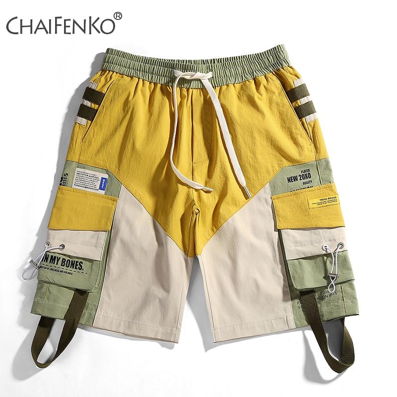 CHAIFENKO Summer Fashion Men Shorts 2020 New Hot Motion Casual Pocket Tooling Shorts Hip Hop Streetwear Harajuku Shorts Mens