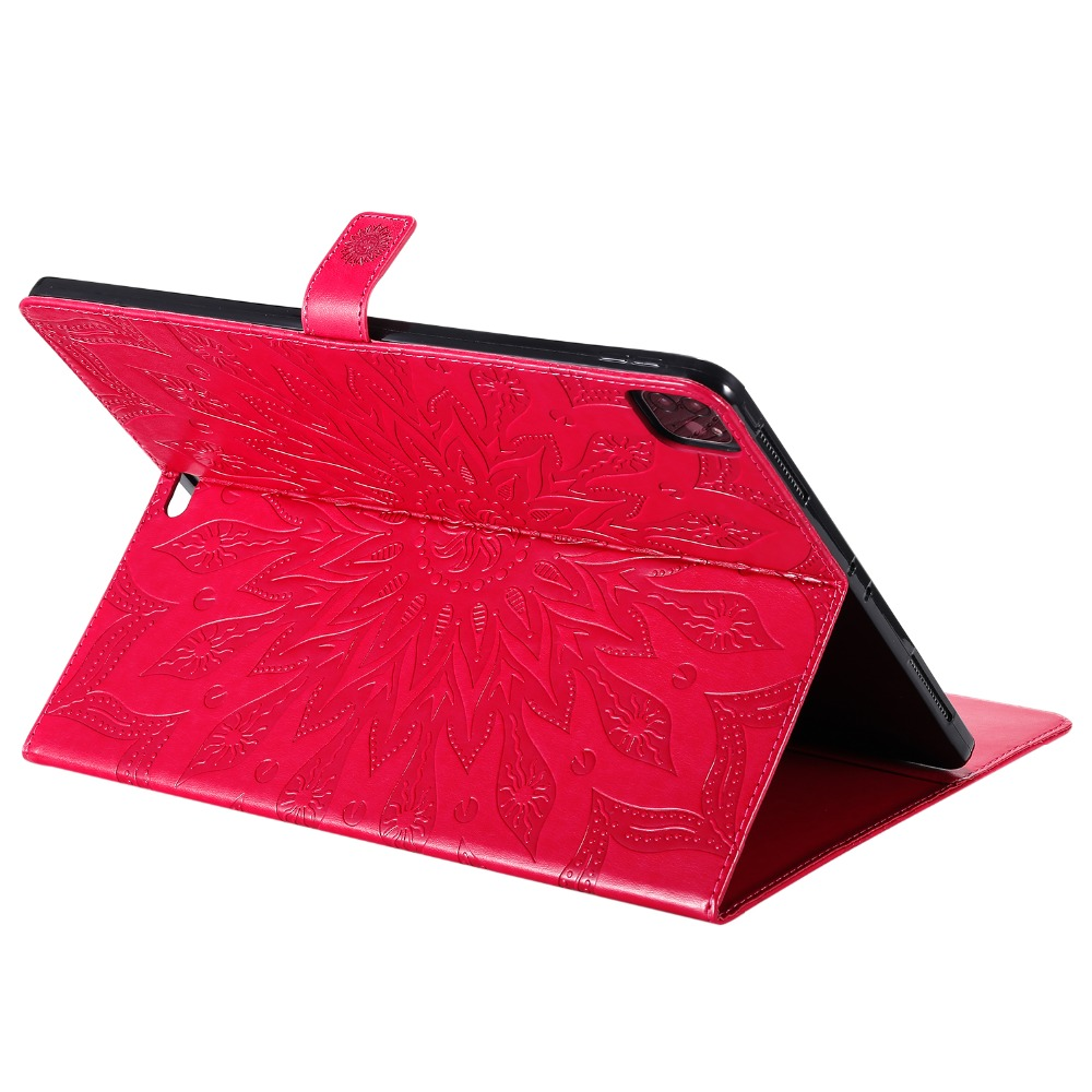 Flower iPad 2020 9 Leather Cover 3D Shell Case Skin 12 for Protective Pro Embossed