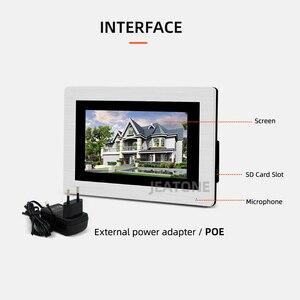 Image 2 - 7 ekran dotykowy duży budynek WIFI IP wideo domofon telefoniczny przełącznik POE 2to5 System kontroli dostępu wsparcie hasło/karta elektroniczna