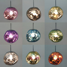 Nowoczesna lampa wisząca LED Melt Lava Home Decoration sypialnia lampa żyrandol do salonu jadalnia lampa wisząca oświetlenie wewnętrzne