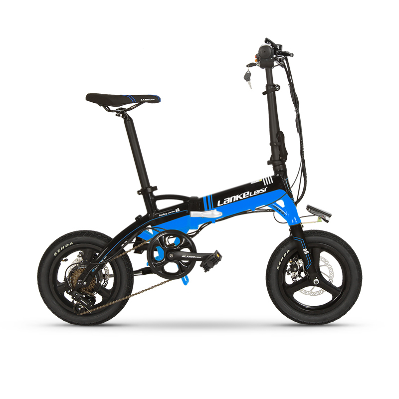 A6 Lightweight 14 inch folding ebike L G Lithium Battery mini electric bicycle 1