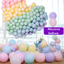 50pcs 10 inch 2.2g Candy color macaron balloon wedding birthday party decoration pink mint childrens toys