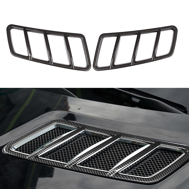 Car Hood Engine Air Outlet Frame Cover Carbon Fiber Accessories For Mercedes Benz GLE ML 2012-2019 / GL GLS 2013-2019 / W166 3