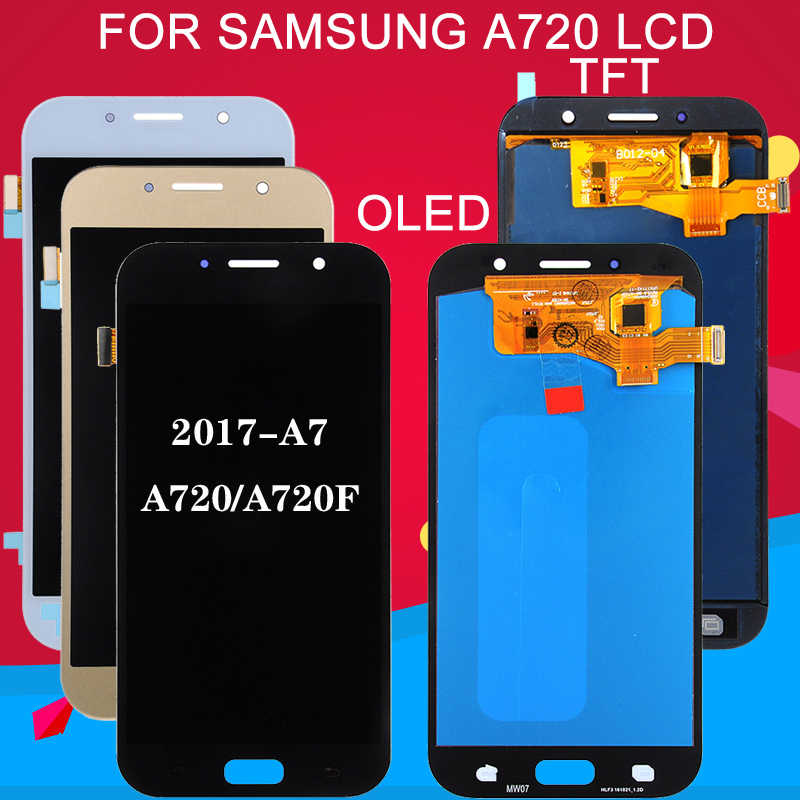 Dinamico Förderung A720 Lcd Für Samsung Galaxy A7 2017 Lcd Ersatz A720F Display Touch Panel Screen Digitizer Montage