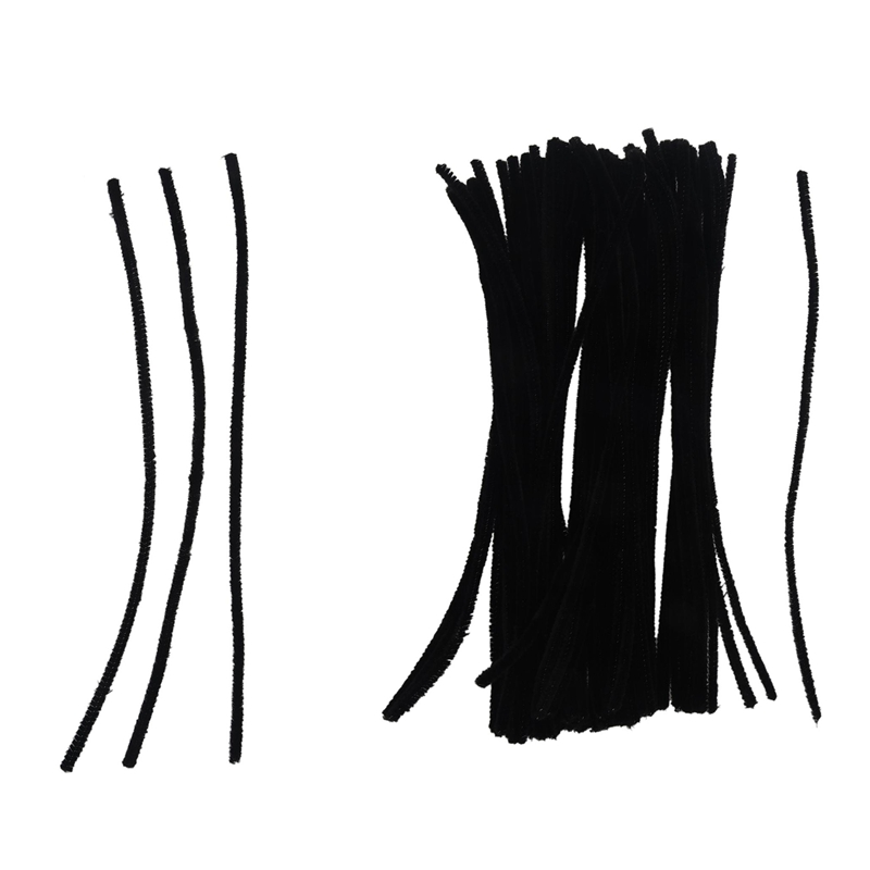 200 Pcs 30cm Black/White Pipe Cleaners