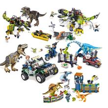 In stock 75938 Jurassic World Movie Dinosaur T. rex vs Dino-Mech Battle Building Blocks Bricks toys Children's Christmas gift(China)