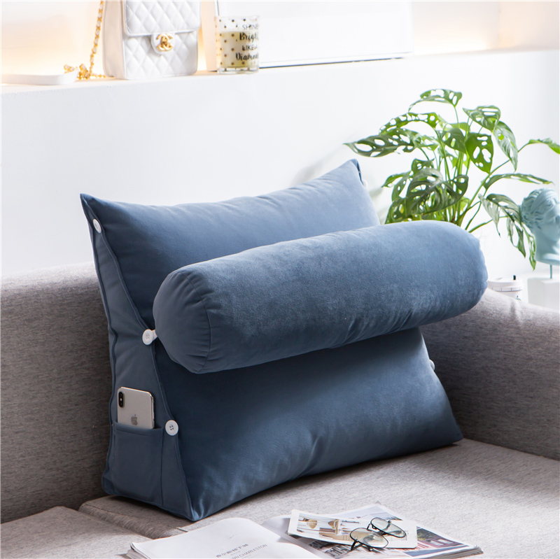 Triangular Sofa Cushions Backrest Bed Thick Seating Comfortable Living Room Pillows Back Support Pillow Insert Sofa Gift MM60KD