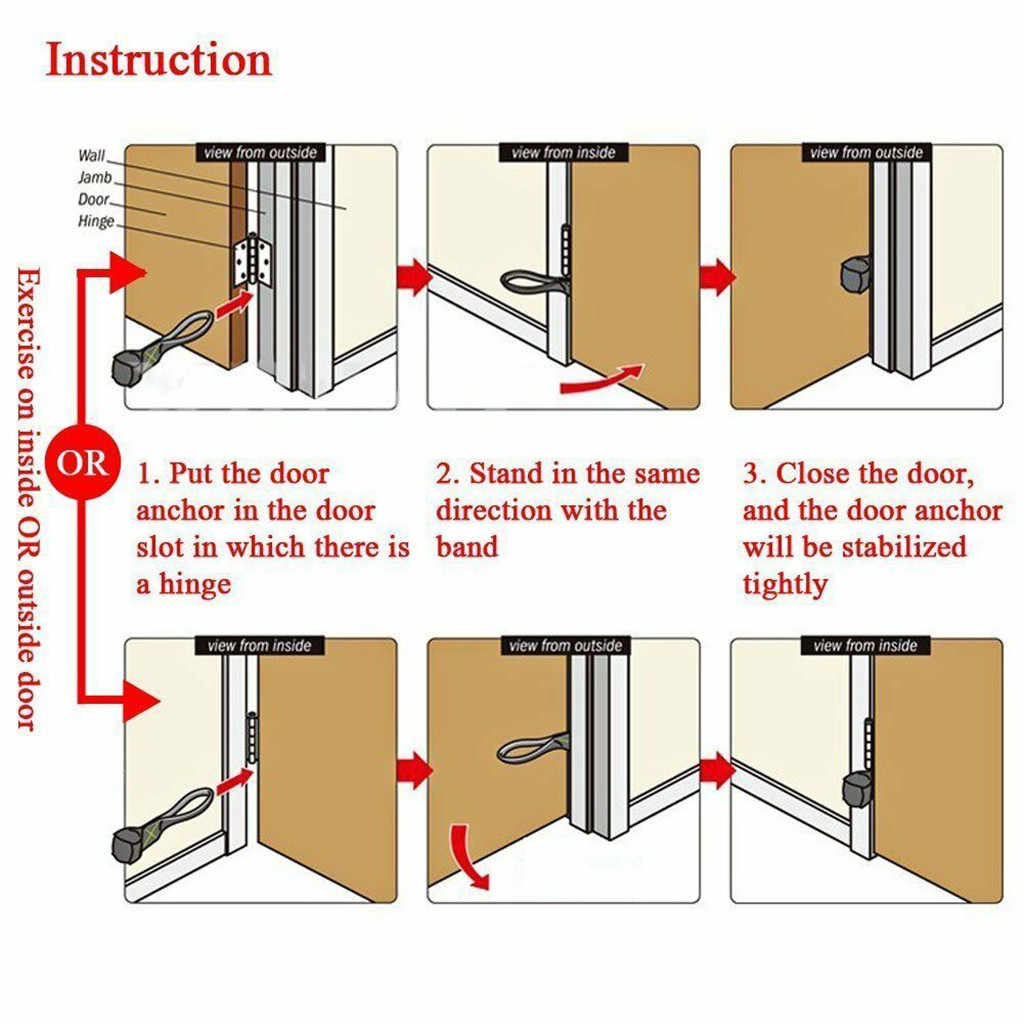 Foam Door Anchor for Resistance Band Tube Doorway Muscle Building Strength Train#p2