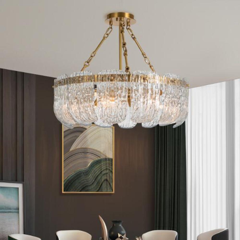 Neue große kronleuchter wohnzimmer kupfer lampe AC8V 8v gold