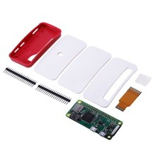 For Raspberry Pi Zero/Zero W Board Kit with 1GHz 512MB RAM Version 1.3 Zero Case GPIO Pin Heatsinks Camera FFC Cable(China)