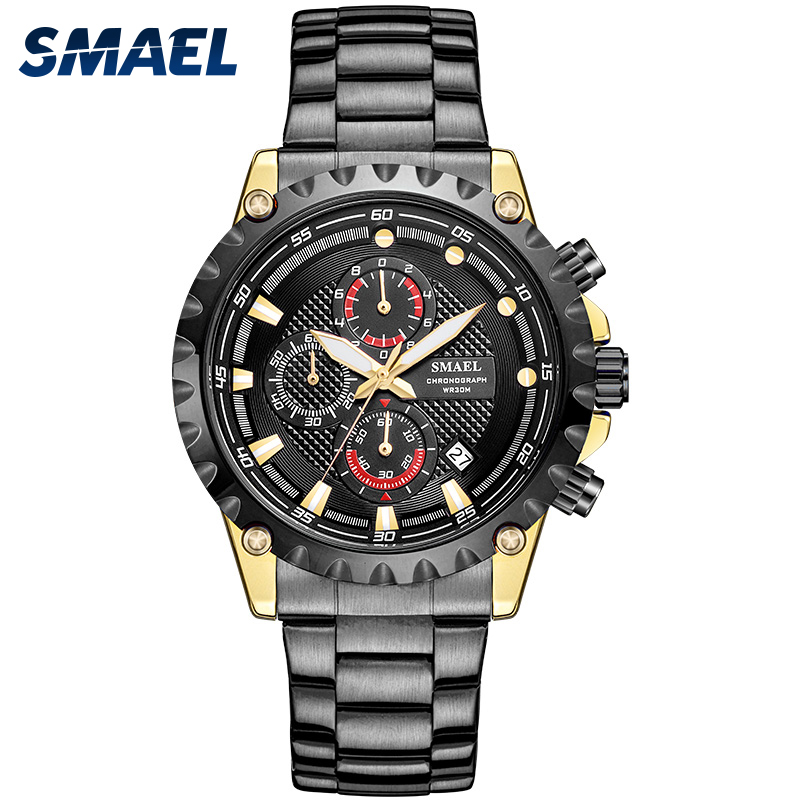 11.7 Fans Seckill Watch Men SMAEL Brand Men Stainless Watches Men's Quartz Clock SL 9105Waterproof Wrist Watch relogio masculino|  - title=