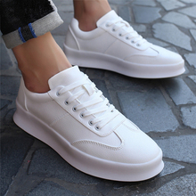 New Arrival Men White Flat Shoes Lace-up Comfortable Sneaker for male tenis masculino adulto Top Quality Casual