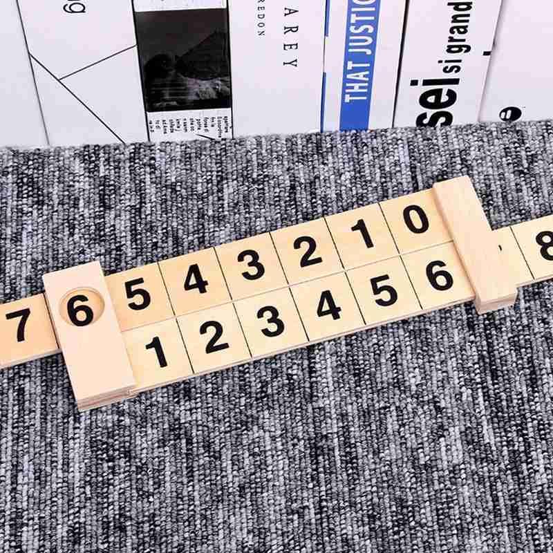 Wooden Math Arithmetic Ruler