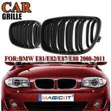 цена на MagicKit Pair ABS Matte Black M Color Front Kidney Grille Sport Grill For BMW 1 SERIES E81 E82 E87 E88 2008 2009 2010 2011