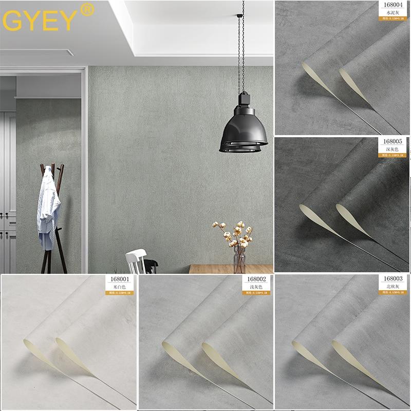 10M Nordic Cement Gray Wallpaper Pure Plain Industrial Wind Tea Shop Restaurant Bar Restaurant Clothing Store Wallpaper