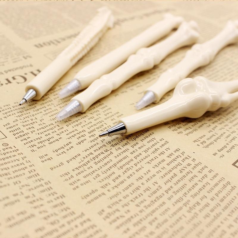 100 шт оптовая продажа Ручка кость шариковые ручки игрушка шариковая ручка канцелярские товары школьные принадлежности офисные аксессуары стиль