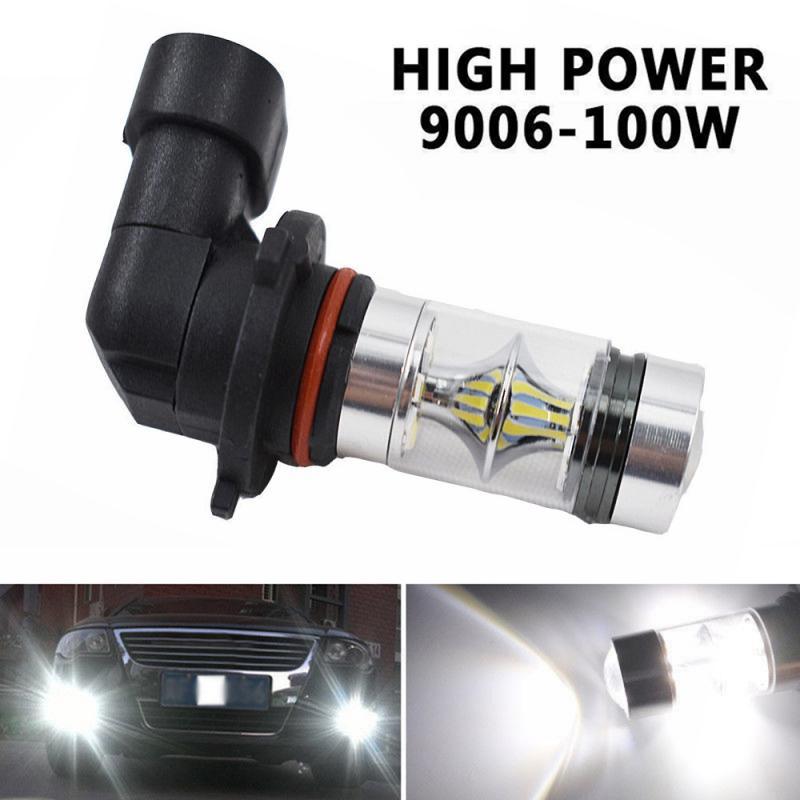 1 шт. 9006 HB4 100W 6000K супер белый туман светильник 2323 светодиодный дальнего света лампы DRL Дневной светильник, сигнализирующий фонарь автомобиль...