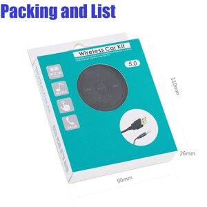 Image 5 - DISOUR Magnético kit Mãos Livres Bluetooth FM Transmissor Do Carro Do Bluetooth Receptor De Áudio 3.5 milímetros AUX Estéreo Sem Fio Adaptador Dongle 5.0