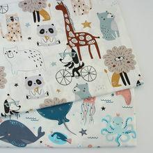 Tecido de algodão dos desenhos animados bebê algodão retalhos pano diy costura estofando quartos de gordura material para bebê & criança