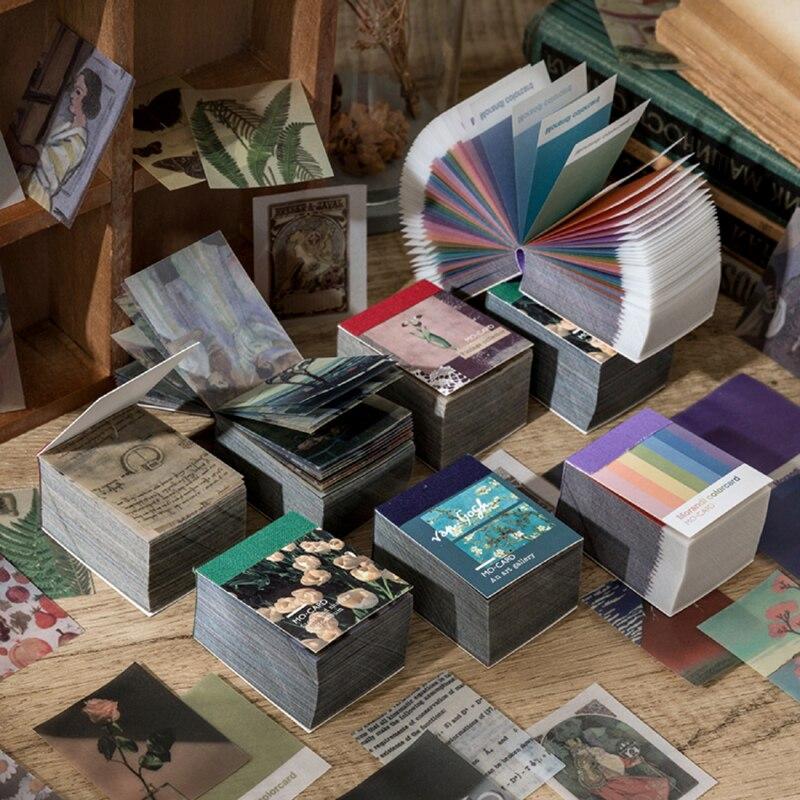 Quente 366 pces de van gogh cor multi-estilo planta kraft papel diário adesivos estética bullet journal arte suprimentos material papel