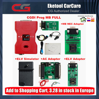 New Original CGDI Prog MB For Benz Key Programmer Support All Key Lost with Full Adapters ELV Repair Adapter&MB Simulator
