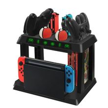Charging Stand Storage Rack for NS Switch Host PokeBall Pro Joy Con Controller