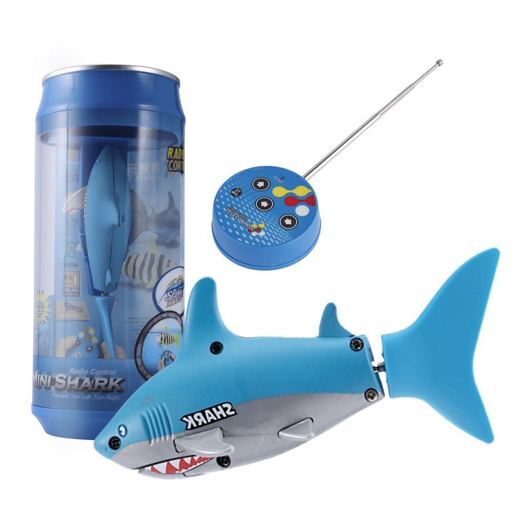 Mini RC boat 4 CH Remote Small Sharks With USB Remote Control Toy Fish Boat Best Christmas Gift for Children Kids New image