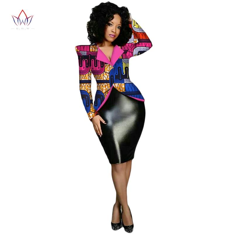 Traditional African Clothing Women Blazers and Jackets Women Dashiki Tops Plus Size Blazers For Women Jacket Slim 6XL WY1869