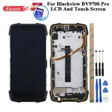 Alesser Blackview Bv9700 프로 LCD 디스플레이 + 터치 스크린 수리 부품 + 도구 + 필름 Blackview Bv9700 프로 전화 프레임