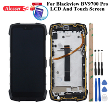 Alesser עבור Blackview Bv9700 Pro LCD תצוגה + מסך מגע תיקון חלקים + כלים + סרט עבור Blackview Bv9700 פרו טלפון עם מסגרת