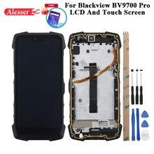 Alesser ل Blackview Bv9700 برو شاشة الكريستال السائل شاشة تعمل باللمس إصلاح أجزاء أدوات فيلم ل Blackview Bv9700 برو الهاتف مع الإطار