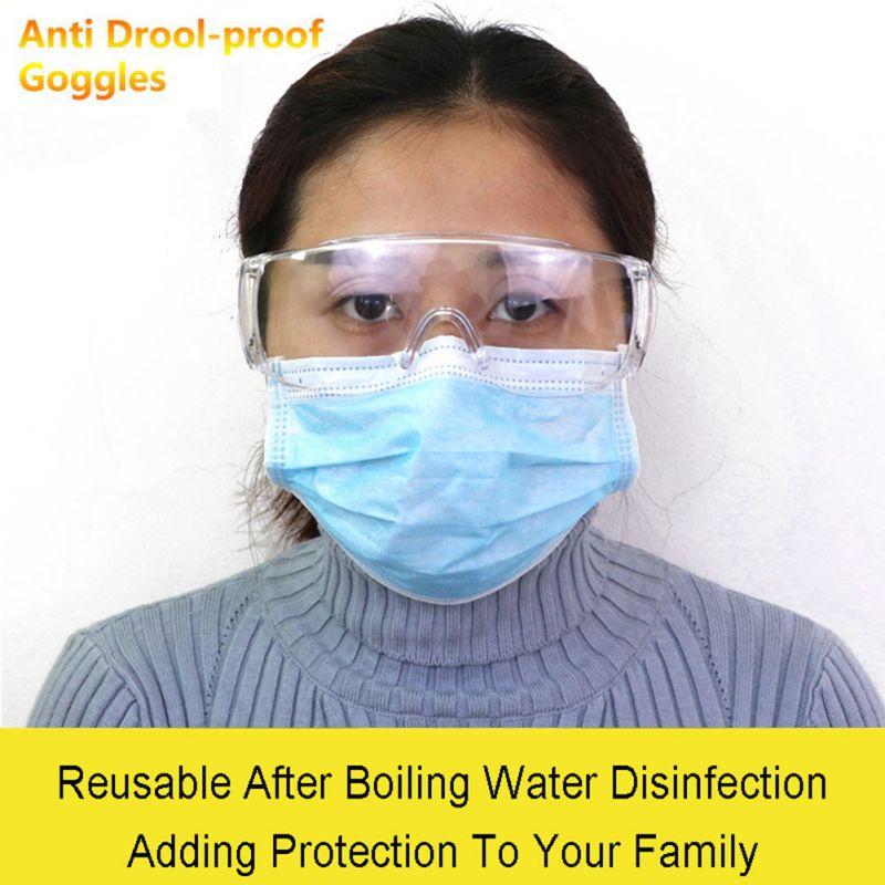 Anti Drool-proof Goggles Anti Virus Glasses Unisex High Definition Fog Blocking  Anti-dust Anti-droplets Adjustable Eyewear#25