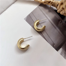 2020 New Arrival Fashion Cool S925 Silver Plated Stud Metal Style C-shaped Earring for Women Accessories Jewelry 2020 new arrival fashion cool s925 silver plated stud metal style c shaped earring for women accessories jewelry
