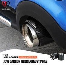 ขายร้อนสำหรับ Mini Cooper รถ จัดแต่งทรงผมคาร์บอนไฟเบอร์ท่อไอเสีย Muffler เหมาะสำหรับ R55 R56 R60 R61 F55 f56 F54 รถไอเสีย
