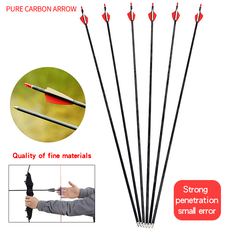 6//12pcs Archery Target Pins Paper Arrows Recurve Bow Shooting Hunting Outdoor