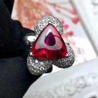 Joyería Fina Anillos oro Real Pt900 joyería 100% Natural Brasil turmalina 7.68ct piedras preciosas Anillos femeninos para mujeres anillo fino 2