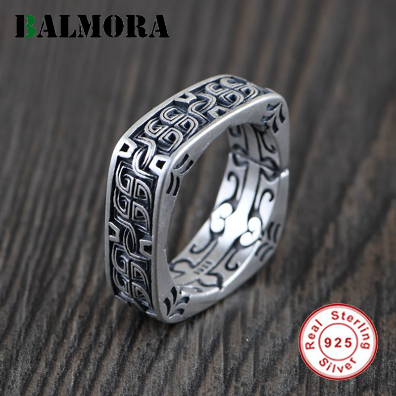 BALMORA 100% Real 925 Pure Silver Forefinger Rings For Women Girls Knot Rings Valentine's Day Gifts For Her Jewelry US 8 Yard