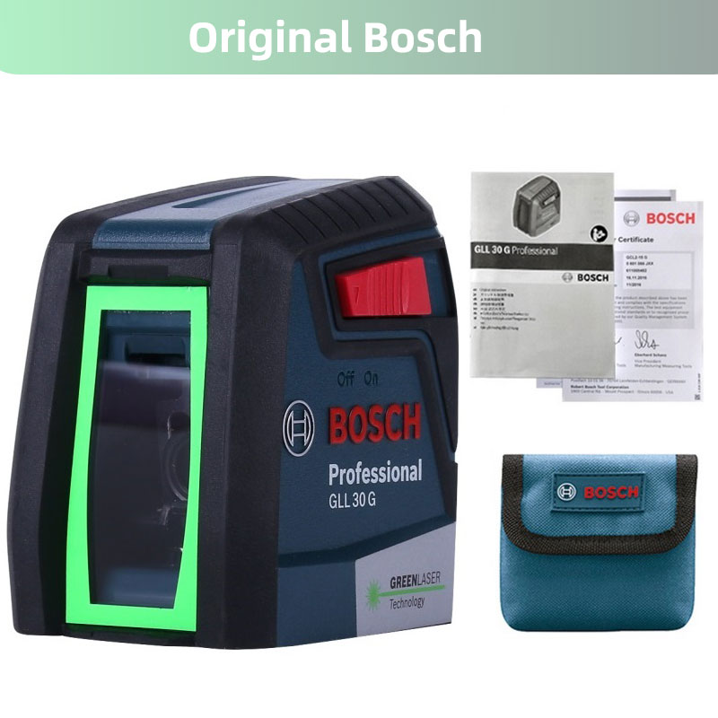 Bosch GLL30G Laser Level High Precision Green Light Two Line Horizontal And Vertical Laser Level|Laser Levels| - AliExpress