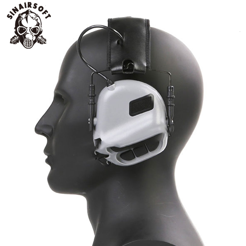Tactical Electric Head-mounted Earmor Hearing Protection Headphones For AEG Paintball Hunting Shooting Accessories