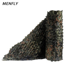 MENFLY 1.5m Wide Single Layer German Military Camouflage Outdoor 210D Anti-aerial Themed Event Fence Net  Car Sunscreen Cover