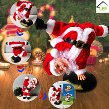Toys Doll Gift-Ornaments Christmas-Decorations Plush Street Xmas Santa-Claus with Music