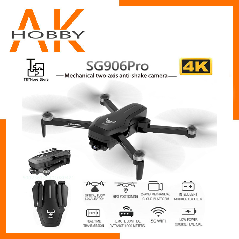2020 NEW SG906 Pro 5G Drone 4k HD Mechanical Gimbal Camera Wifi Gps System Supports TFcard Drones Distance 1.2km Flight 25 Min